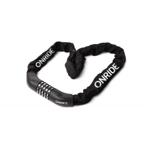 Велозамок ONRIDE Tie Code 30 ланцюговий кодовий 6x1000мм