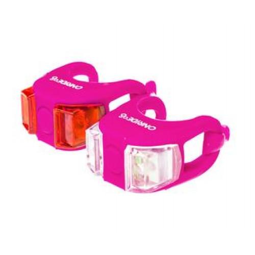 Мигалки ONRIDE Dual набір (передня+задня) рожевий