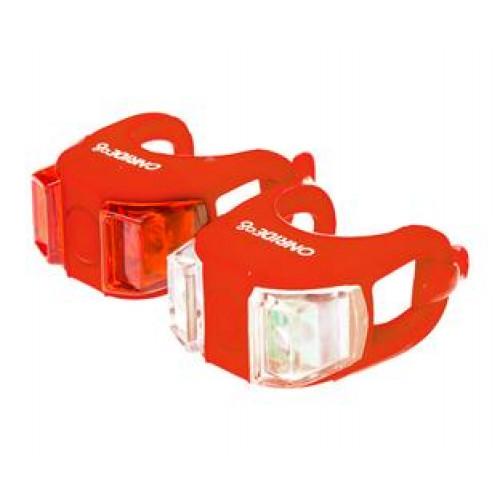 Мигалки ONRIDE Dual набір (передня+задня) червоний