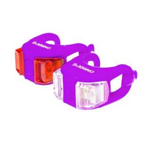 Мигалки ONRIDE Dual набір (передня+задня) фіолетовий