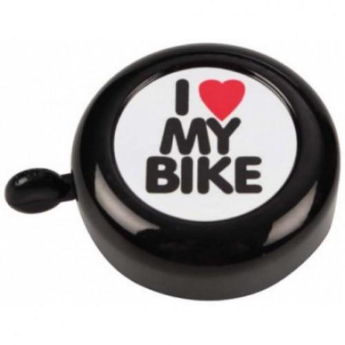 Звонок Green Cycle GCB-1051A-BK I love my bike cтальной черный