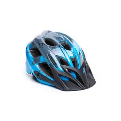 Шолом ONRIDE Rider глянцевий сірий/блакитний
