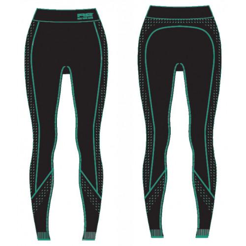 Термобілизна жіноча R2 Basis (штани довгі) Чорно-м'ятний S