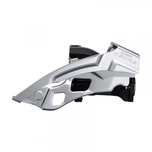 Переключатель передний SHIMANO FD-T6000-L, DEORE 3X10, для 44/48, LOW CLAMP, TOP-SWING, DUAL-PULL хомут, чорн