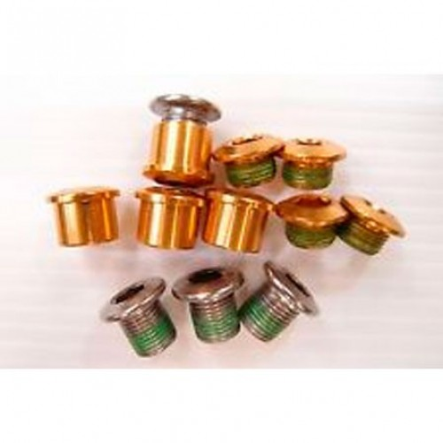 Болты на систему шатунов CHAINRING BOLT KIT 4X3 ALUM/SS GOLD