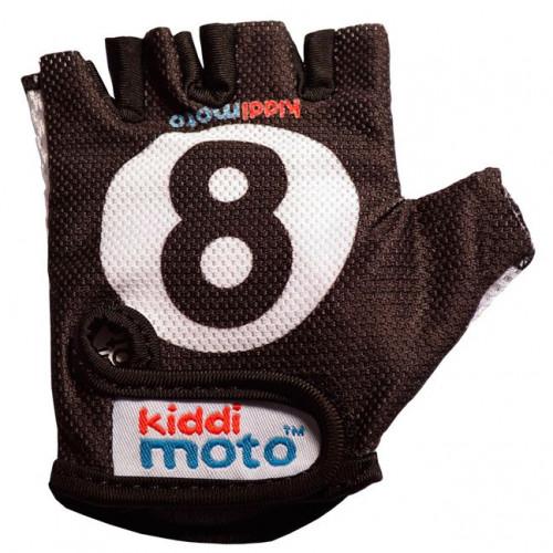 Перчатки детские бильярдный шар, чёрные, размер М на возраст 4-7 лет