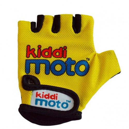 Перчатки детские неоновые жёлтые, размер М на возраст 4-7 лет