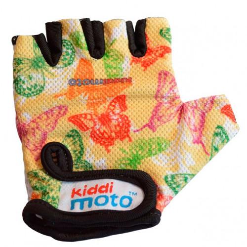 Перчатки детские бабочки, размер S на возраст 2-4 года