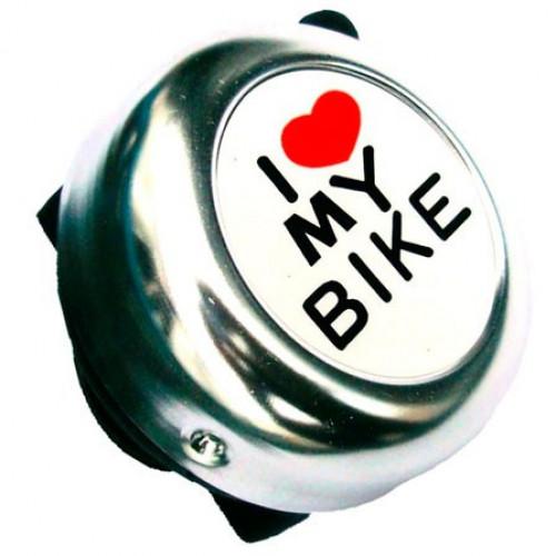 Звонок I love my bike серебро