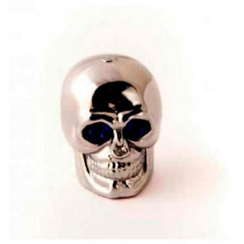Колпачок на ниппель Череп серебро
