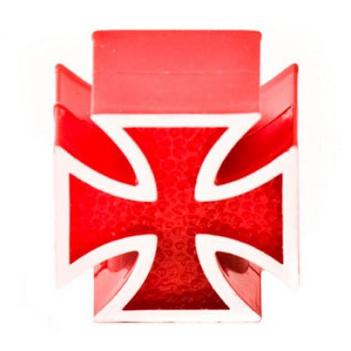Колпачок на ниппель Крест красный